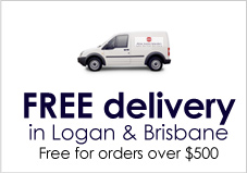 Free delivery in Logane & Brisbane for orders over $500.