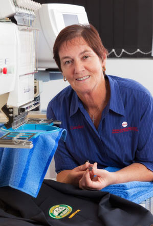 Caroline Atkins, Owner ACE Embroidery